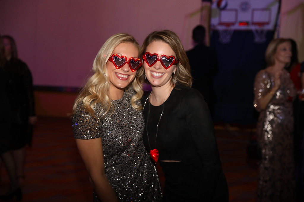 After Party attendees in light up glasses