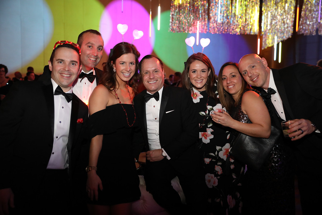 group of Heart Ball attendees