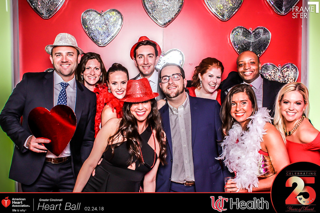 group of After Party attendees in photo booth