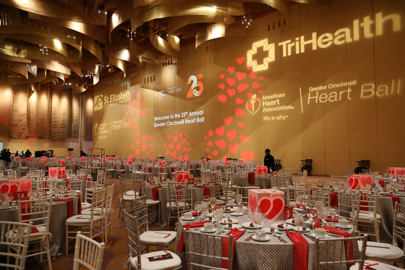 2018 Heart Ball Dining room